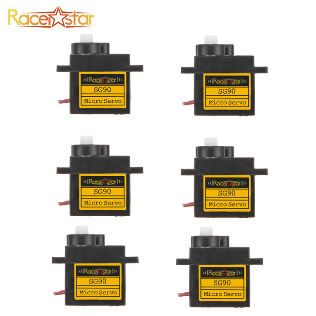 6/12PCS Racerstar SG90 9g Micro Plastic Gear Analog Servo For RC Helicopter Airplane Robot Spare Parts DIY Accessories