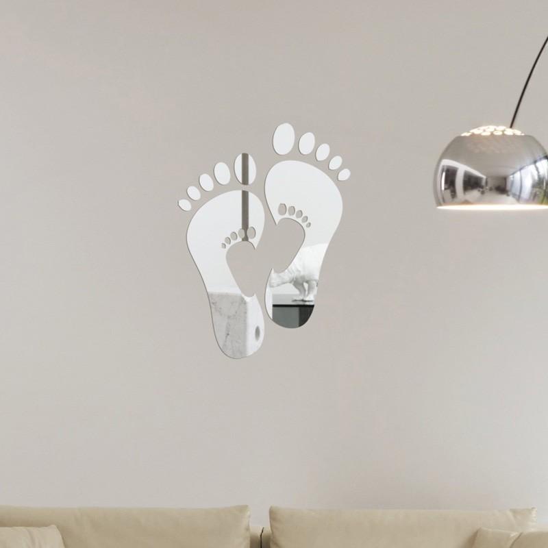 d de cristal de pie espejo de acrlico pegatinas de pared sala de estar comedor dormitorio