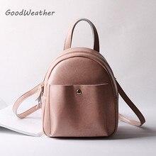 Дизайнерские Мини Розовый Рюкзак женские повседневные Мягкие Кожаные Рюкзаки моды путешествия сумка ранцы 4 цвета рюкзаки