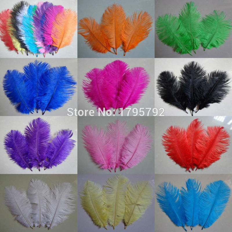 """25 Pcs DYED PEACOCK Tail Feathers 40-45/"""" HOT PINK; Crafts//Art//Bridal//Costume"""