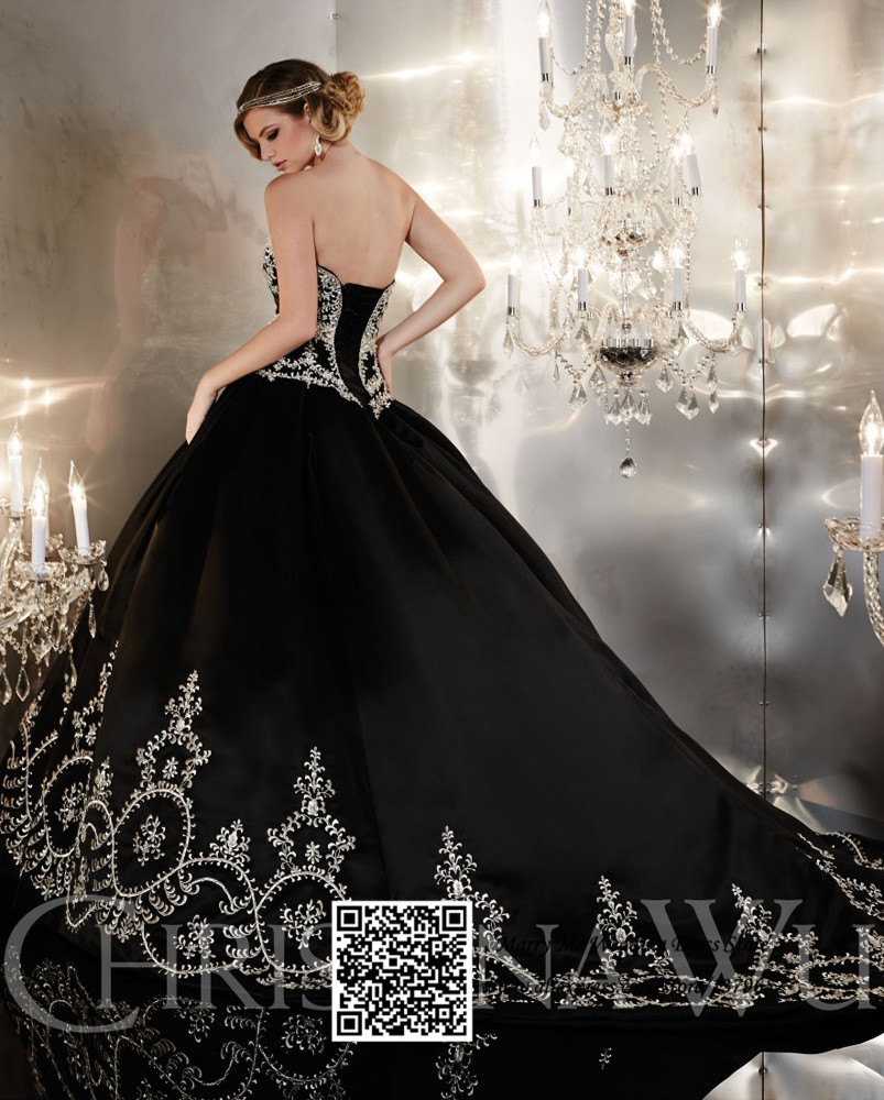 New Design Black Sweetheart Lace Up Crystal Embroidery Ball Gown ...