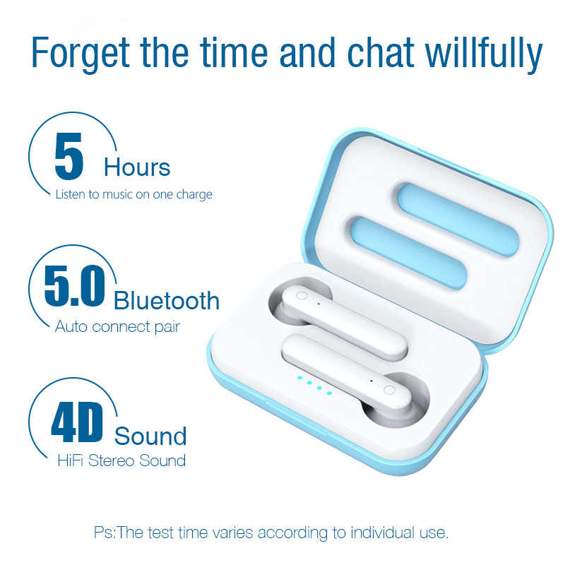 LYMOC X26 Latest TWS Earphones  Pops-up Bluetooth 5.0 Wireless Headsets Worktime 4Hours Touch Earbuds Noise Resolute Headphones