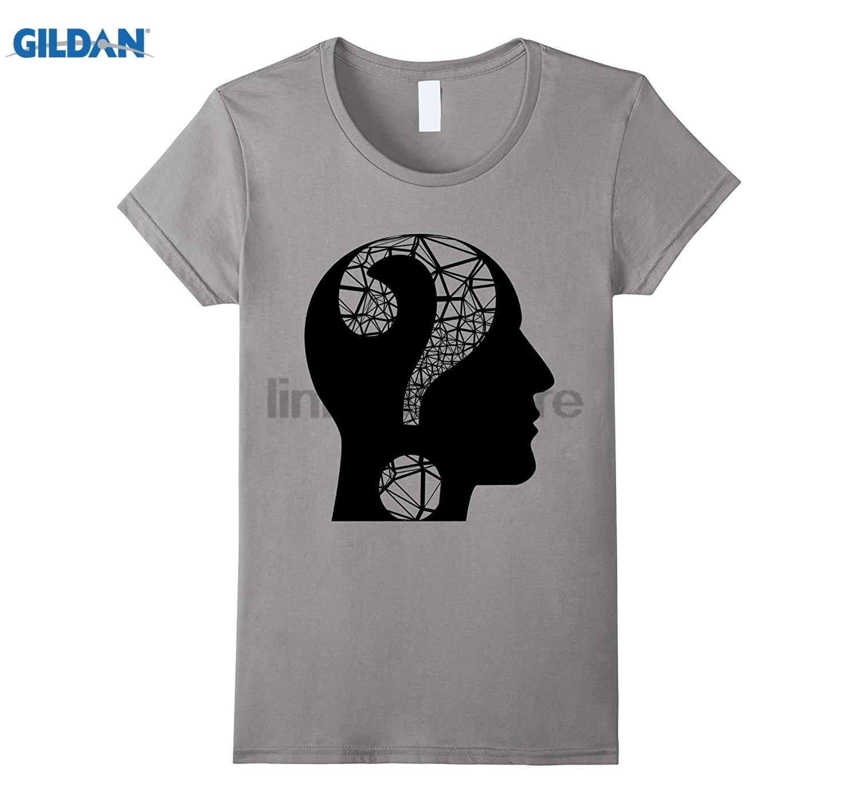 GILDAN Question Mark T-Shirt Philosophy Psychology Science Tee