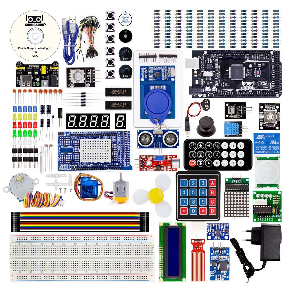 Image 3 - Mega 2560 Project EL KIT 008 Arduino el Kit de inicio más completo con TUTORIAL para Arduino Kit de unoAccesorios de tablero de demostración   -