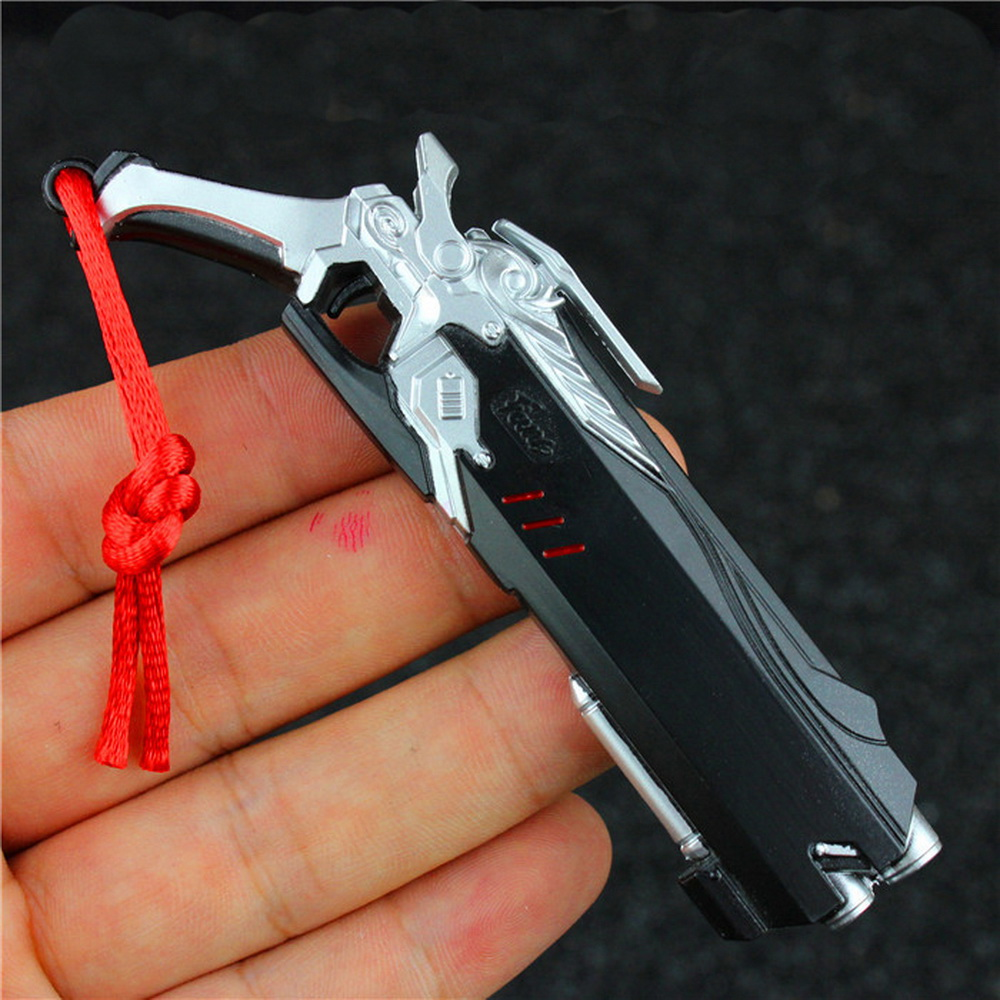 10 cm Jeu Overwatch Hero Reaper Gun Arme Modèle Porte-clés OW Porte-clés Charme Cosplay Bijoux D'anniversaire Cadeau de baisse-gratuite