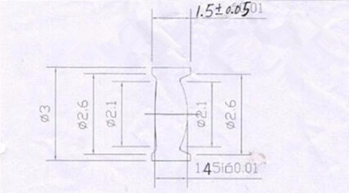 do laser da lente, tamanho: 3X1.5mm, distância