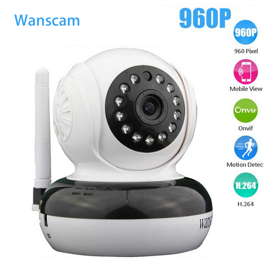 WANSCAM  Network Wireless IP Camera Plug Play 960P 1.3MP IR Cut Onvif Dome Indoor Security Support 128G TF Card Recording wanscam hw0026 hd 720p ir ip onvif 2 1 p2p wifi security camera support 32g tf card