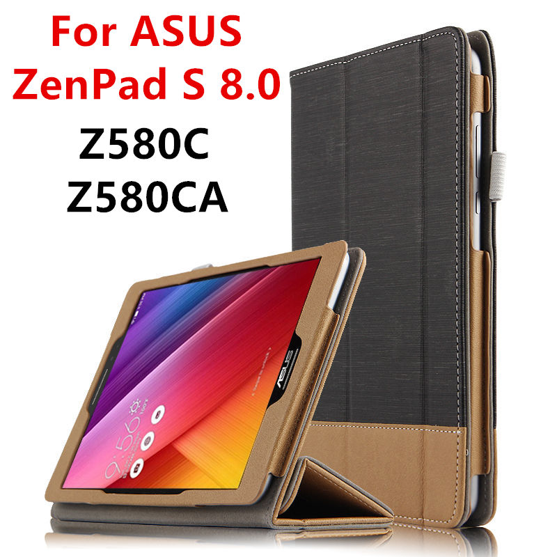 Case For ASUS ZenPad S 8.0 Z580C Protective Smart cover Leather Tablet For asus ZenPad S 8 Z580CA 8inch PU Protector Sleeve Case чехол asus для планшетов zenpad 8 pad 14 полиуретан поликарбонат белый 90xb015p bsl320