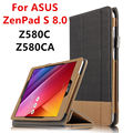 Case For ASUS ZenPad S 8.0 Z580C Protective Smart cover Leather Tablet For asus ZenPad S 8 Z580CA 8inch PU Protector Sleeve Case