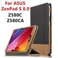Case para asus zenpad s 8.0 z580c protectora cubierta elegante de cuero tableta para asus zenpad s 8 z580ca 8 pulgadas pu protector de la manga case