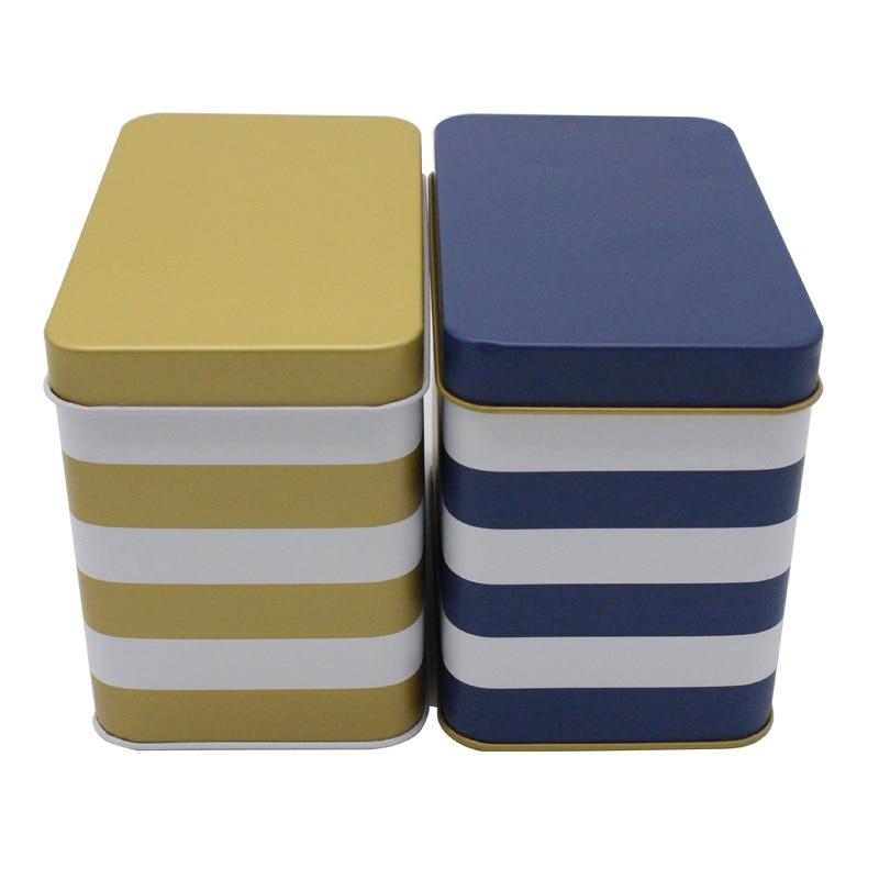 170x103x135mm Rectangle Tea tin box candy coffee storage box office organizer 12pcs/lot
