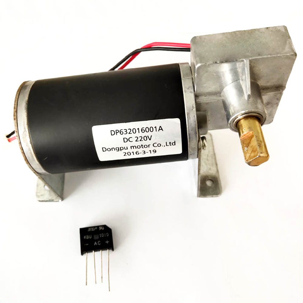 AC220V haute puissance haute vitesse moteur redresseur alimentation DC inversion positive avec support réducteur à vis sans fin moteur