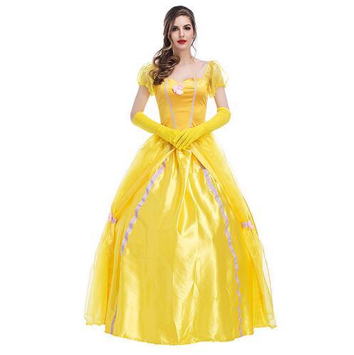 fdaa6c87 O transporte da gota role playiinh Beauty and the Beast princesa belle  Cosplay adulto Traje festa de Halloween venda quente Vestido de Terno em de  no ...