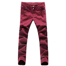 2017 new Men's pattern leisure straight jeans Men's pants high-quality 100% cotton male slim jeans casual pants trousers males