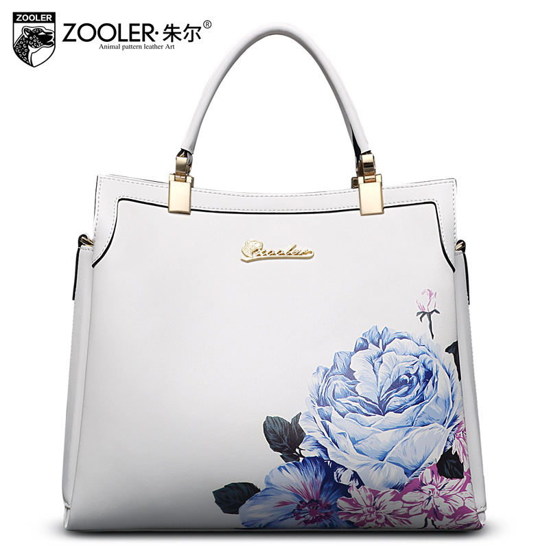 ZOOLER Floral Genuine Leather Handbag Ladies Shoulder Bag Fashion Chinese Wind Flowers Shoulder Bags for Women Messenger Bag chinese style genuine leather bag women handbag embroidery ethnic summer fashion handmade flowers ladies tote shoulder hand bags