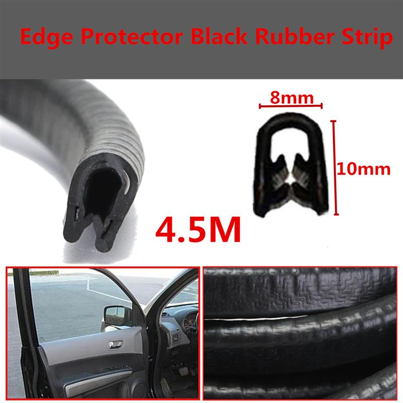 4.5M White Car Door Window Trim Edge Moulding Rubber Seal Strip Weatherstrip