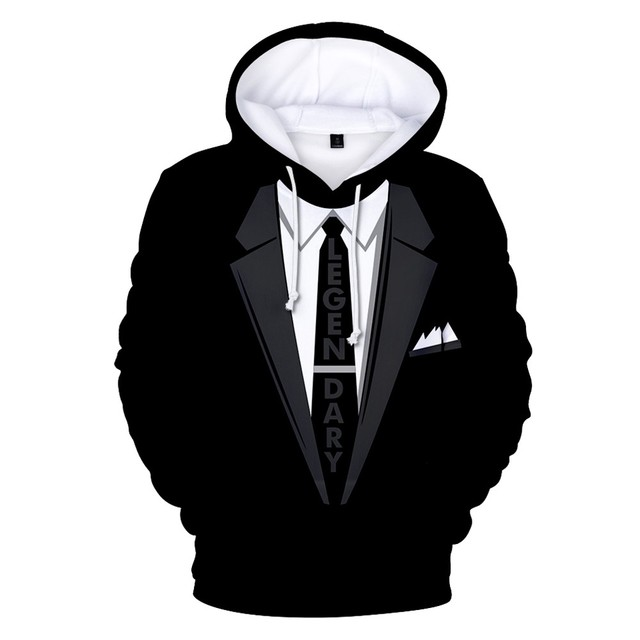90927ab6d0e9 Hot Funny Suit 3D Hoodies Men Women Hoody Sweatshirts 3D Christmas Suit  Pattern Print Hooded Cotton Polluver Funny Tops
