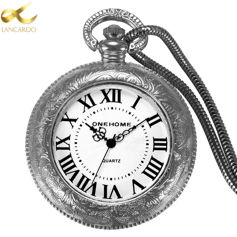 Lancardo Pocket Watch Electric Lighters USB Windproof Flameless Electronic Charging Cigarette Lighter Men/Women Watches