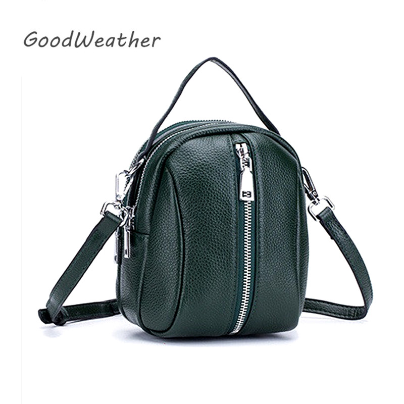 Fashion Shoulder Bag Female Designer Mini Woman Leather Handbag High Quality Luxury Green Soft Genuine Leather Shoulder Bags