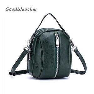 Image 1 - Moda torba na ramię kobieta projektant mini kobieta skórzana torebka wysokiej jakości luksusowe zielone miękkie oryginalne skórzane torby na ramię
