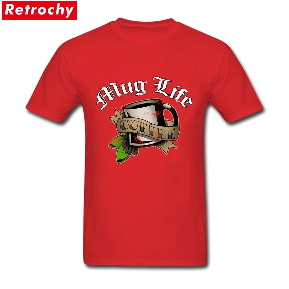 Mug Life Merchandise T Shirts Short Sleeve Mens Soft Cotton Plus Size Tees