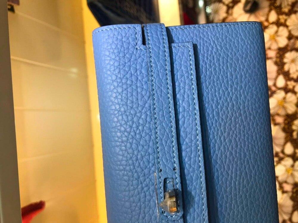 Kupplung Geldbörse Karte Leder Telefon Handtasche Foto Frauen Verkauf Bargeld Halter Brieftasche Schwarzes Heißer blau Weiblichen Tasche Wa0235 OEpBBx
