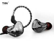 Nova TRN X6 6BA Unidade Motorista fone de Ouvido Em Ouvido 6 Equilibrada Resolução IEM Destacável Armadura de ALTA FIDELIDADE Estágio Monitor de Esportes Em Execução 2Pin