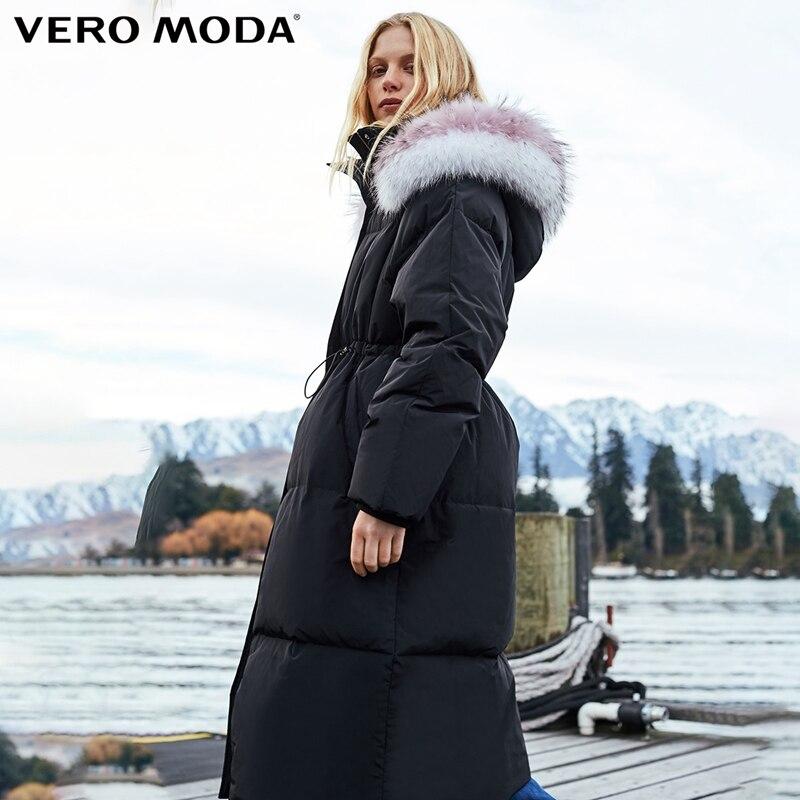 Vero Moda новый цвет соответствия енота волос похудения длинный пуховик | 318412517