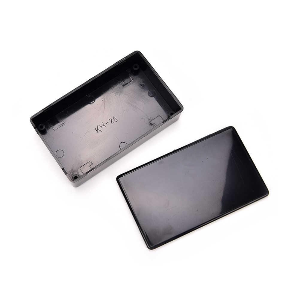 Shngki 100X60X25 Mm Hitam DIY Kandang Kasus Instrumen Listrik Perlengkapan 1 Pcs Proyek Elektronik Kotak Plastik