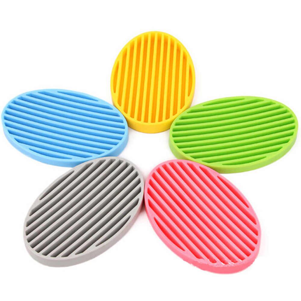 Kreatywny silikonowy elastyczny mydelniczka płyta łazienka mydło Box uchwyt na mydelniczkę Drop Ship