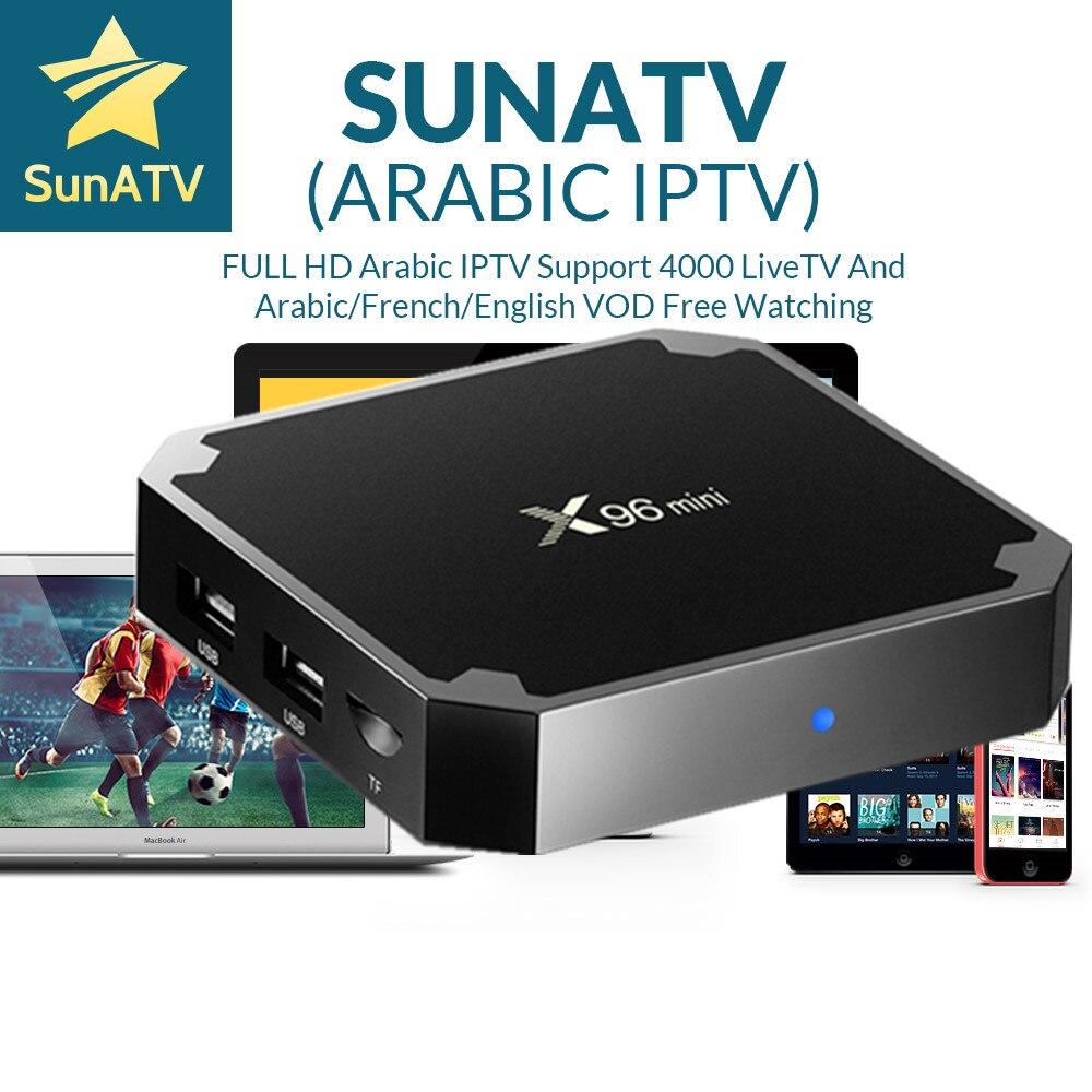 x96 Mini Android TV Box 1 Year SUNATV IPTV 4000+chanenls.Arabic IPTV French Germany Africa Russian IPTV Europe IPTV