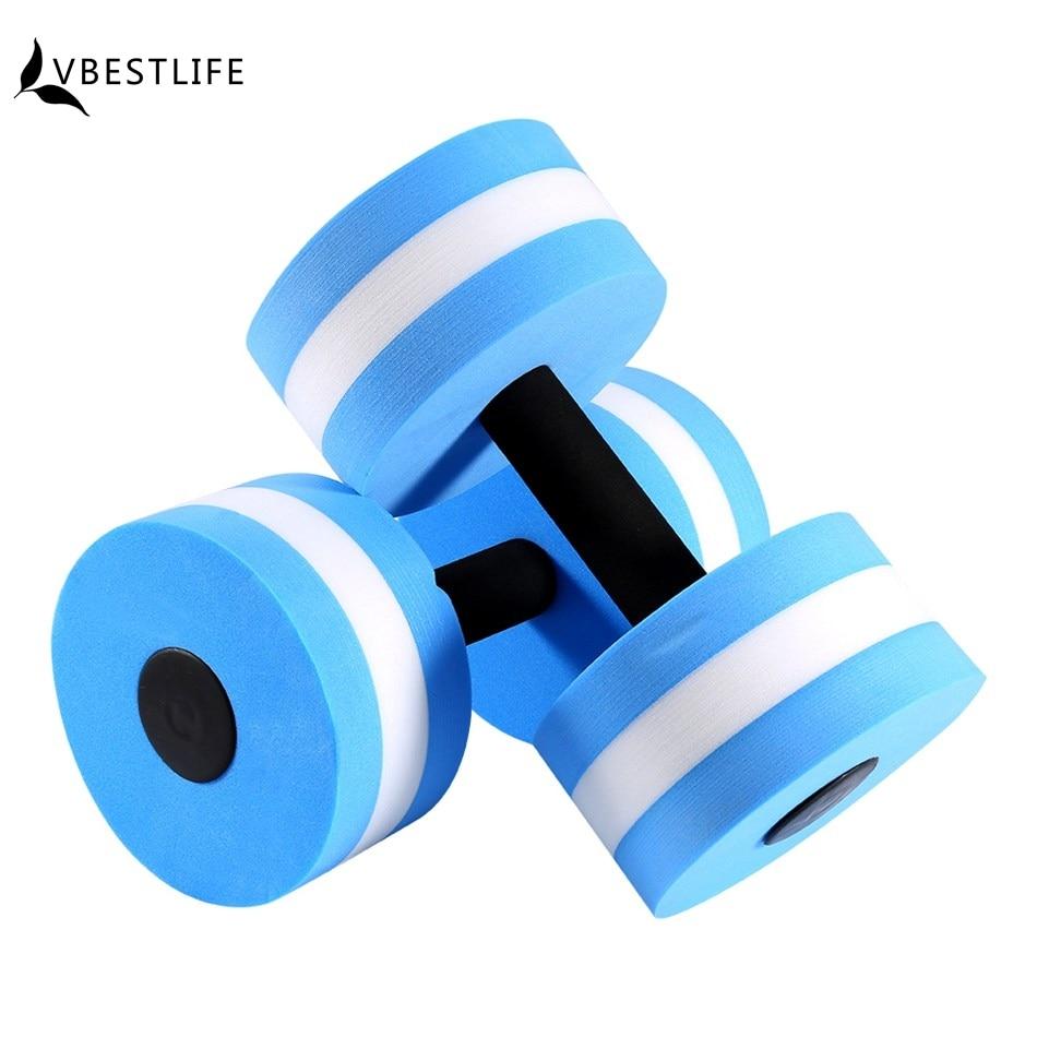 eau exercices de fitness /équipement pour Aqua perte de poids Bleu Eau pour exercices en mousse Halt/ères 2 pcs
