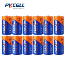 12Pcs/ PKCELL 1.5V LR14 C Size Battery Alkaline MN1400 E93 AM 2 Dry Battery Batteries Cell For camera MP3 Walkman Toys etc