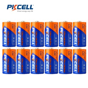 Image 1 - 12Pcs/ PKCELL 1.5V LR14 C Size Battery Alkaline MN1400 E93 AM 2 Dry Battery Batteries Cell For camera MP3 Walkman Toys etc