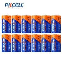 PKCELL بطارية قلوية 12 قطعة ، 1.5 فولت LR14 C ، MN1400 E93 AM 2 ، بطارية جافة ، خلية كاميرا MP3 ، لعبة ووكمان ، إلخ.