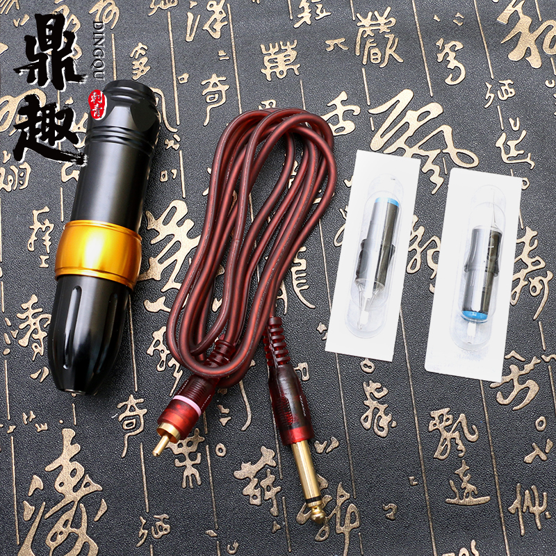 New Arrive Tattoo Supply with Clip Cord Permanent Makeup Pen Machine Rotary Tattoo Pen PTM4312 new blue rca rotray swiss motor halo2 tattoo machine gun cartridge grip clip cord for tattoo pen needles supply hcm04 be