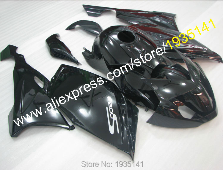 Hot Sales,For BMW K1200S  fairings 2005 2006 2007 2008 Gloss black part K1200S 05 06 07 08 K 1200S body Cowling aftermarket kit aftermarket free shipping motorcycle parts eliminator tidy tail for 2006 2007 2008 fz6 fazer 2007 2008b lack