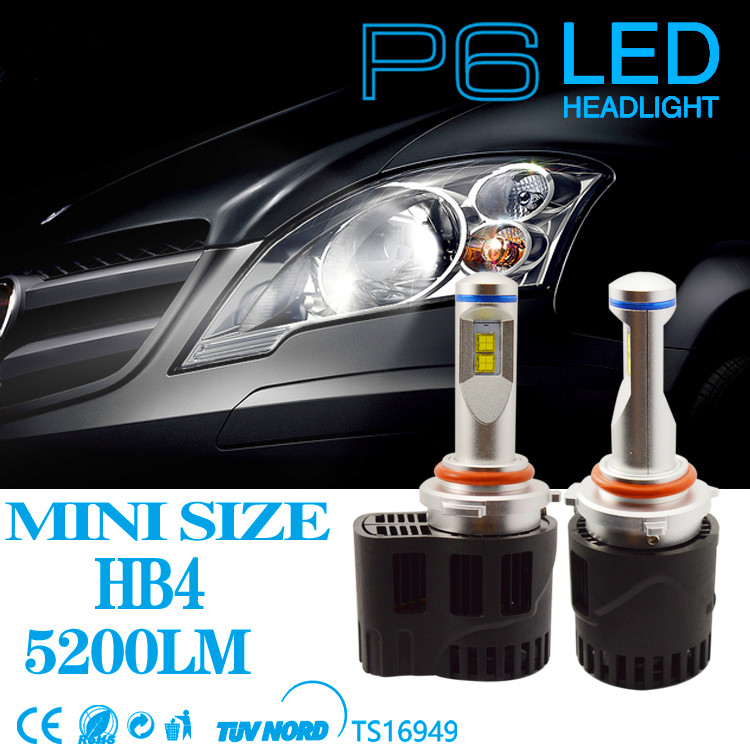 New Car LED Canbus 10400Lm P6 LumiLEDs Car Bulb Auto Lamp Headlight Fog Light Conversion Kit Replacement HB3 HB4 Headlamp Bulbs 2pcs set 72w 7200lm h7 cob led car headlight headlamp auto lamps led kit 6000k headlight bulb light car headlight fog light