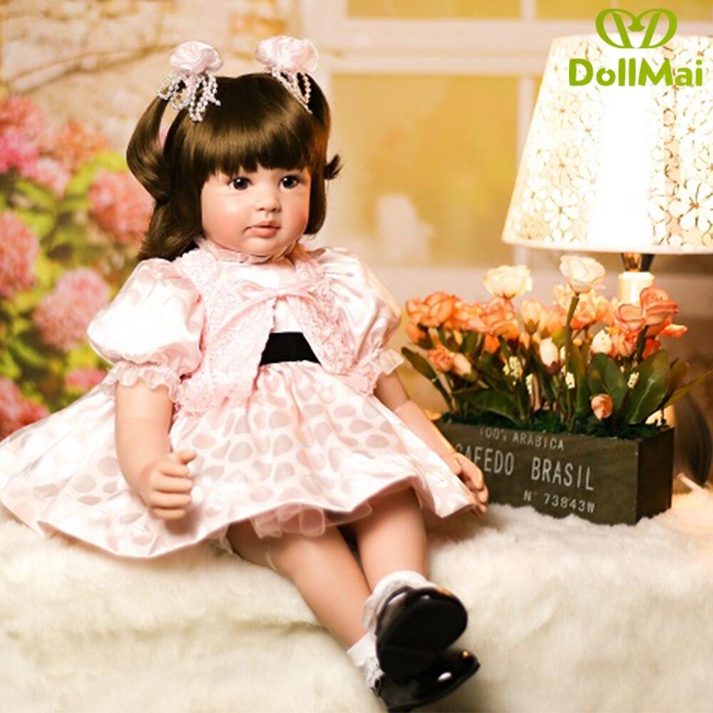 60 cm Silicone Reborn bébé poupée jouets 24 pouces princesse enfant en bas âge lol original reborn bébé poupées filles Brinquedos jouer maison jouets - 4