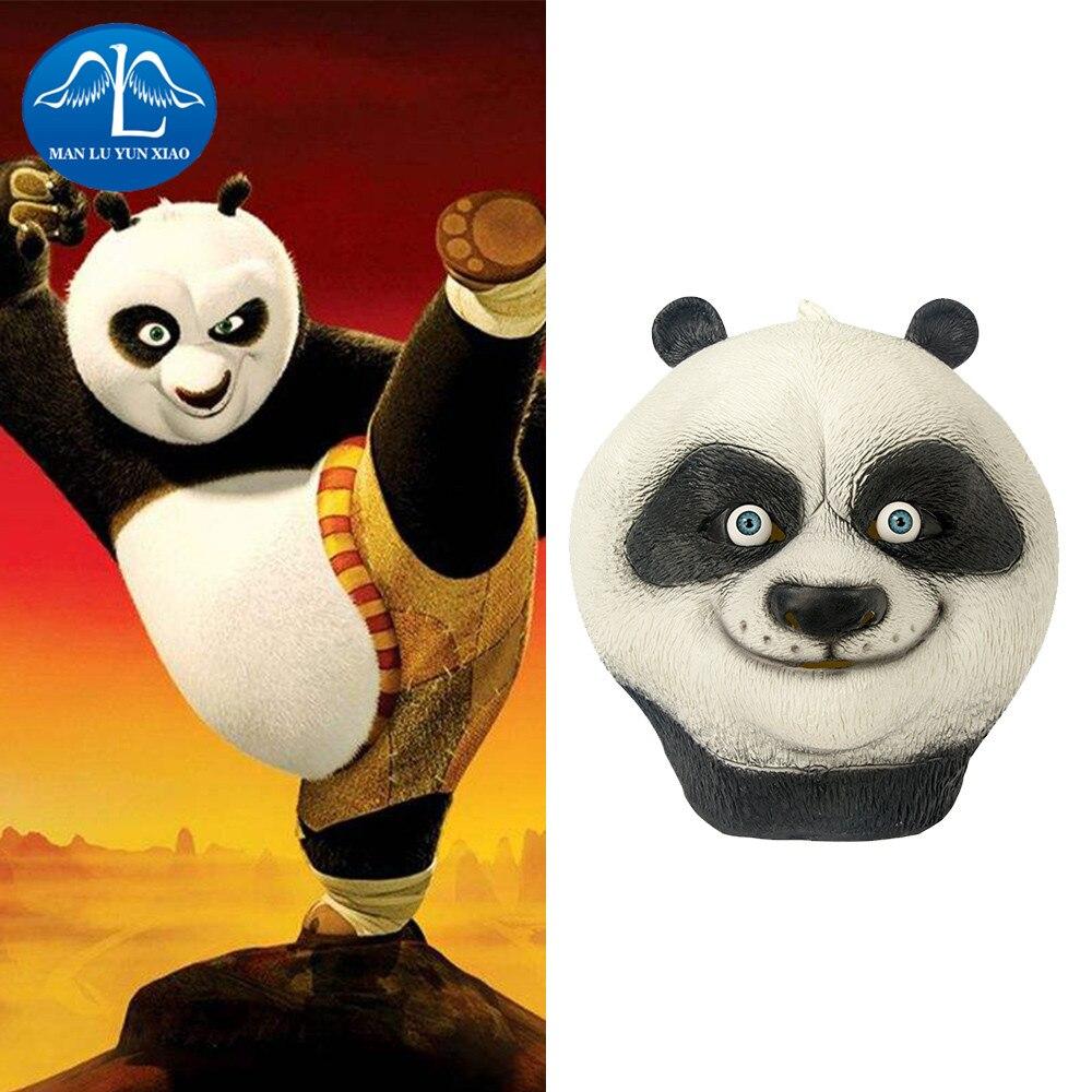 manluyunxiao kung fu panda maske halloween latex maske cosplay kostm vollmaske frau mann kinder maske - Kung Fu Panda Halloween