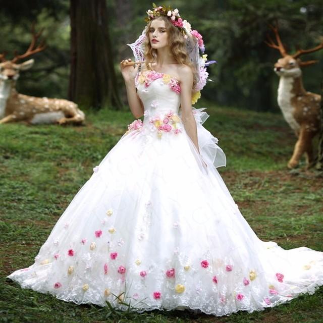 Custom made elegante flores longo vestido Quinceanera 2016 apliques de renda querida vestido de baile vestido de debutante vestido 15 anos