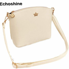 2016 New Fashion Women Messenger Bags Crown Decor Women Shell Bags Mini Women Shoulder Bag  gift HOT SALE