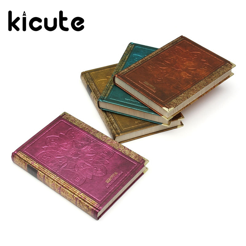Kicute Retro Seattle Vintage Harcover Notebook Personal Dairy Journal  Agenda Planner For Gift Office School Stationery Supplies