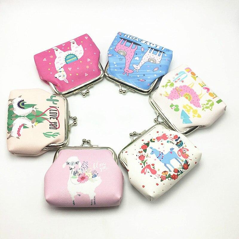 Detail Feedback Questions about Flamingo Alpaca Printed Coin Purse for Women  Kids Girls Mini Purses Cartoon Pattern Small Wallet Bag Children Cute Coin  ... c35a12d25e2e