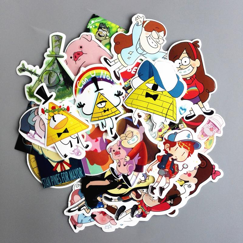 25Pcs/lot Funny Anime Gravity Falls Sticker For Car Laptop Luggage Skateboard Motorcycle ...
