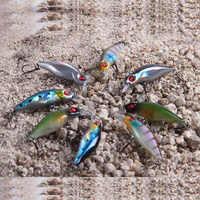 2 unidades/pacote tamanho pequeno 5cm 2g ultra leve mini-minnow isca de plástico duro wobbler isca de peixe artificial fresco truta baixo pesca