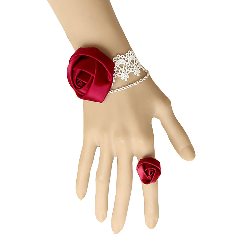 Red Rose Ring Adjustable Flower Fashion Jewelry