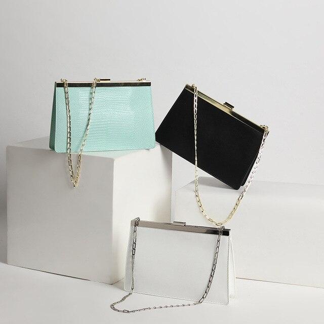 Luxury Brand Handbag Women High Quality Genuine Leather Messenger Bag Chain Shoulder bag Evening Clutch Bag