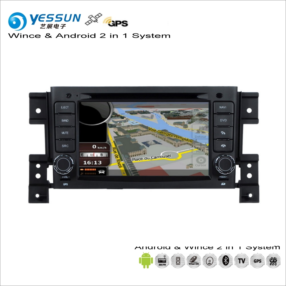 YESSUN pour Suzuki Vitara/Grand Vitara 2008 ~ 2013 voiture Android multimédia Radio lecteur CD DVD Navigation GPS Audio vidéo stéréo
