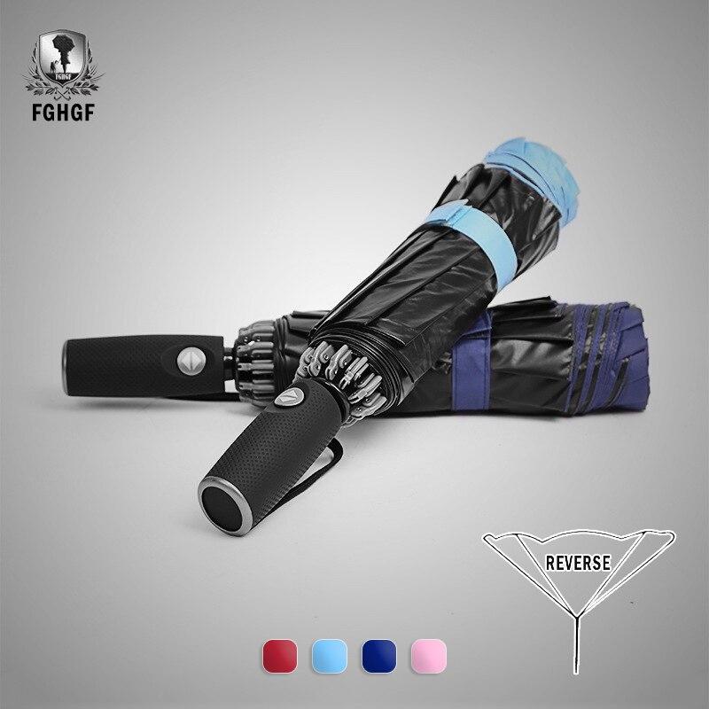 Responsabile Fghgf Creativo 8 Costole Reverse Ombrello Completamente Automatico Pieghevole Invertito Parasole Pioggia Delle Donne Di Protezione Solare Uv Di Stile Paraguas Uomini Meno Caro
